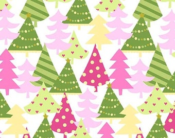 Michael Miller - Hollywood Pixies - Pixiewood Forest - Hollyberry - CM8020-CAND-D - 100% cotton fabric - Fabric by the yard(s)