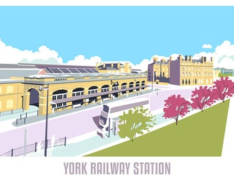 York Railway Station - Print