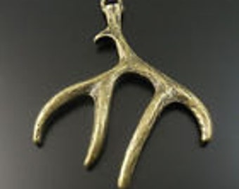 Bronze antler charms 2 charms deer antler charms antler charms Tibetan antler bronze charms
