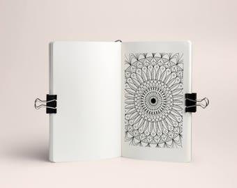 Mood Mandala sticker, 31 days, for Planner and Bullet Journal