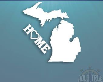 Michigan Decal - PICK COLOR and SIZE - Michigan Home Decal - Mi Decal - Michigan Car Decal - Michigan sticker - Michigan car sticker