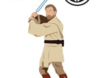 Starwars Obi Wan Kenobi Graphic Design Poster