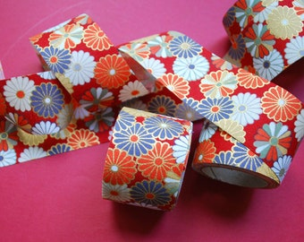 Japanese KIMONO ribbon(fabric ribbon) [AOI. RED]