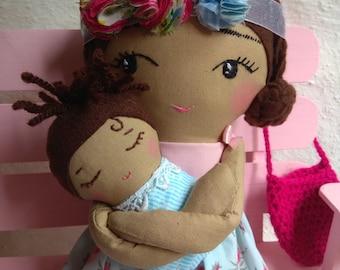 Mom and baby 100% handmade