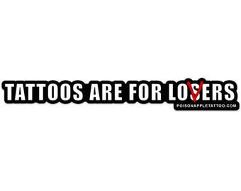 Tattoos are for losers - lovers Tattoo sticker funny creepy it horror movie pennywise disney halloween