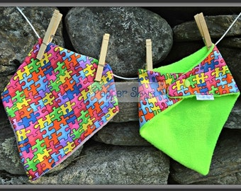 Autism Awareness Bandanna Baby Bib