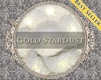 GOLD STARDUST Shimmer Eyeshadow: Samples or Jars, Iridescent Yellow Gold, Loose Powder Eyeshadow, Vegan Cosmetics, Ships Out in 5-8 Days