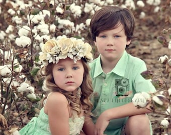 Magnolia Flower Crown, Flower Girl Crown, Photography Prop