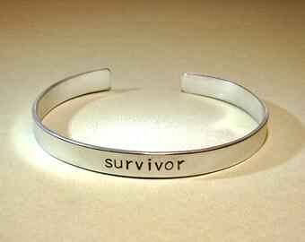 Survivor aluminum cuff bracelet  BR312