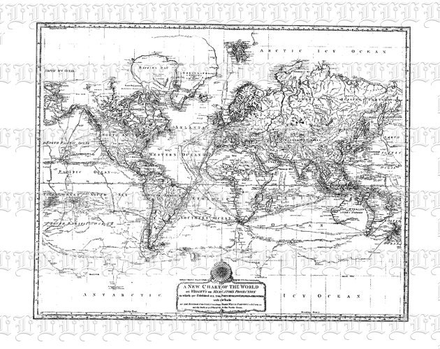 Antique world map mercator projection cartography vintage clip zoom gumiabroncs Choice Image