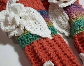 Boho Hippie Longstockings Knee High Slipper Sock Crochet Pattern  ooak eclectic fun trendy unique special gift