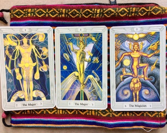 Vintage Thoth Tarot Deck, 3 Magis, Pocket Deck, Cards Mint, Crowley Deck Complete