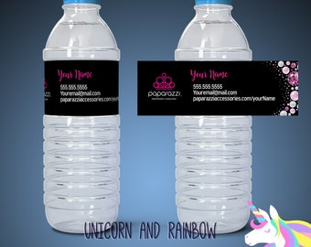 Paparazzi water bottle label - Custom label- Paparazzi party