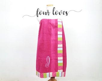 Graduation Gift, Bridal Gift, Bridal Shower Gift, Monogrammed Towel, Bath Wrap Towel, Towel Wrap, Spa Wrap, Shower Wrap, Bath Wrap,