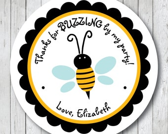 Bumble Bee Stickers . Personalized Bumble Bee Tags or Labels