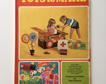 1970's Kids Art book, Purnell's Busy Fingers book of toys to make, Brian Edwards.