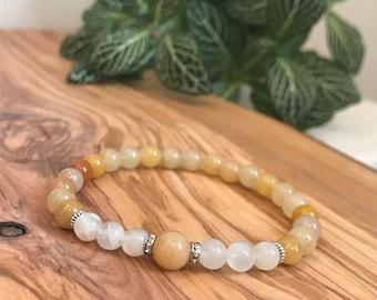 Citrine bracelet, moonstone bracelet, new beginnings bracelet, happiness bracelet, positivity bracelet, self love bracelet, happiness, love