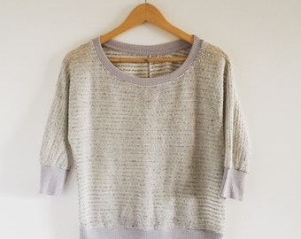 Vintage 1980s Speckled Lightweight Pullover Sweater - Size Small