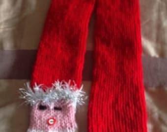handmade santa scarf