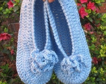INSTANT DOWNLOAD Crochet PATTERN - Tranquil Slippers
