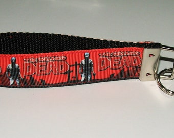 The Walking Dead Key Fob / Key Chain - Zombie Key Chain - Free Shipping