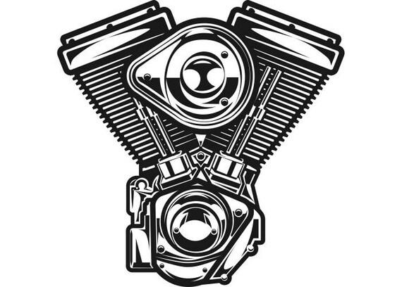 Engine 1 Mechanic Motorcycle Car Automotive Chrome Car