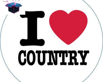 1 cabochon clear 25 mm country theme
