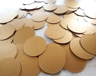 Circle Confetti Antique Gold 1.5 Inch