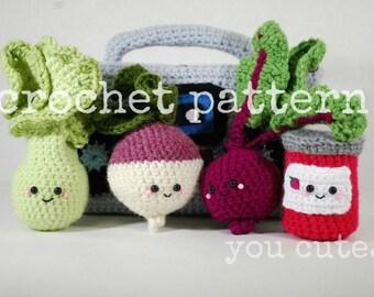CROCHET PATTERN- Lettuce,Turnip, The Beet and Jam!