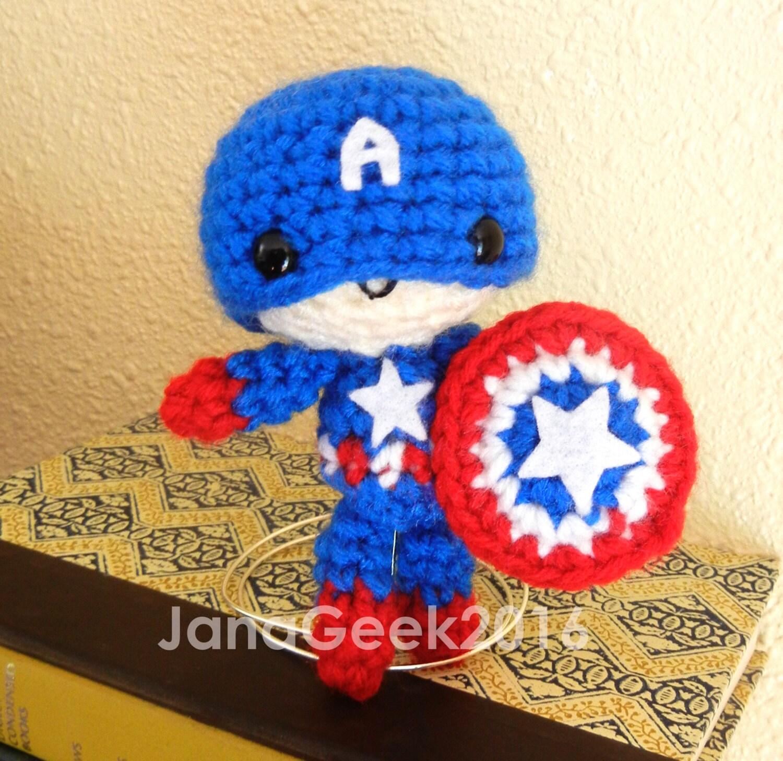 Avengers Captain America inspired Amigurumi Crochet Doll Pattern ...