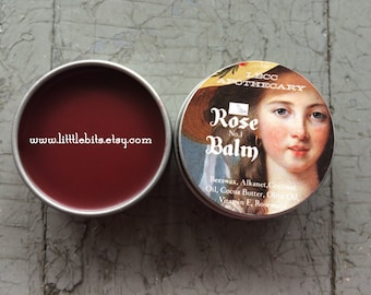 Historically Inspired: 1772 Tinted Rose Balm Lip Salve- Tinted Lip Gloss- New Label