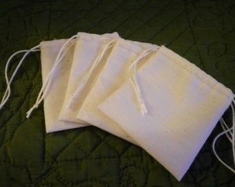 Reusable tea bags, set of 4, 1 to 2 cup size