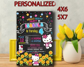 Hello Kitty Invitation,Hello Kitty Birthday,Hello Kitty Birthday Invitation,Hello Kitty Party,Hello Kitty Birthday Party,Hello Kitty-SL194