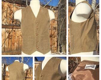 Vintage 70's Levi's panatela sportswear corduroy hippie mod vest Medium
