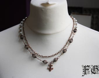 Copper Fleur de Lis Necklace