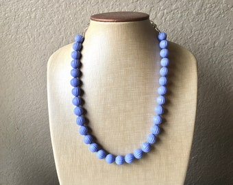 Periwinkle Statement Necklace, Single Strand Chunky Beaded Necklace, blue purple Jewelry, Spring Jewelry, blue Necklace, periwinkle beaded