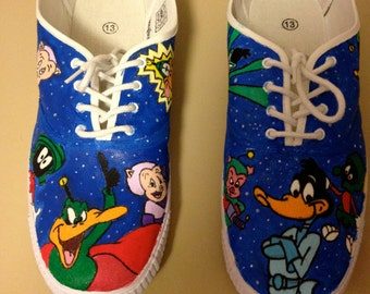 Navy Blue Daffy Duck/Duck Dodgers shoes