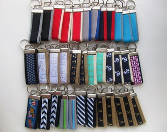 25 KEY FOBS Bulk- Wristlet Keychain Holder- Womens Key Ring- Key Lanyard- Wrist Key Fob- Wrist Key Chain- Womens Gift for Her- Gift Under 10