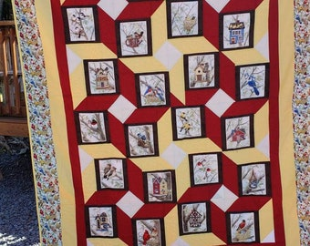 Birds of a Feather twin size quilt