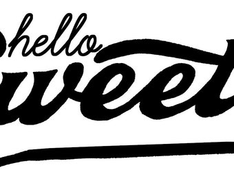 Hello Sweetie decal sticker Doctor Who