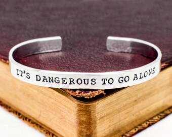 It's Dangerous To Go Alone Bracelet - Retro Video Games - Gamer Gift - Gifts for Gamers - Video Game Jewelry