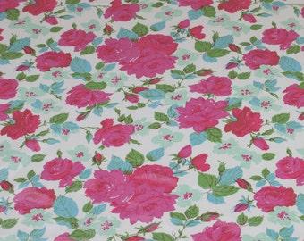 "LAMINATED Cotton  - Sky Bouquet, 56"" Wide, BPA & PVC Free"