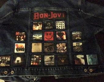 Men's or Women's Custom Denim Album Cover Battle Jacket or Vest