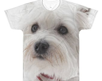 All-Over Printed T-Shirt Scottie Westie Terrier Pet dog Puppy
