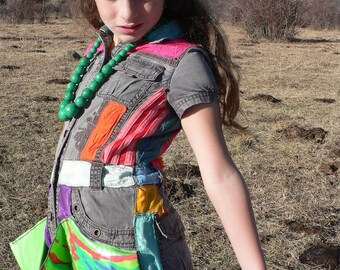 tribal patchwork dress age 6 to 8