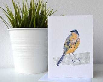 Yellow wagtail card