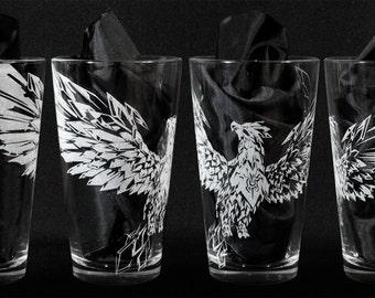 Team Spirit Anivia League of Legends Engraved Drinking Glass