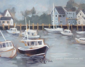 Harbor Haven...Original Oil Painting by Maresa Lilley, SND