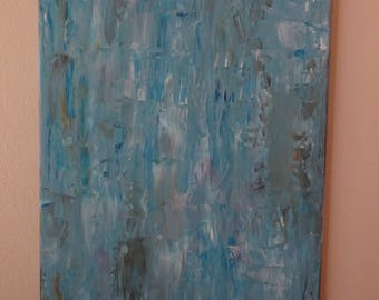 Modern abstract painting in blue