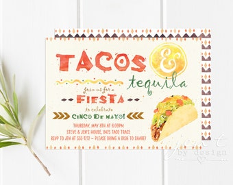 Taco Party Invite | Taco Party | Cinco de Mayo | Mexican Fiesta | Fiesta Invites | Fiesta Invitations | Cinco de Mayo Invite